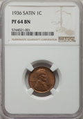 1936 1C Type One--Satin Finish PR64 Brown NGC. NGC Census: (8/6). PCGS Population: (16/8). CDN: $500 Whsle. Bid for NGC/...