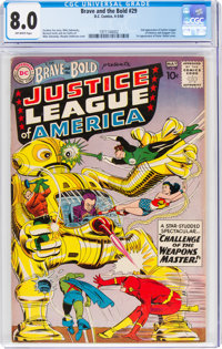 The Brave and the Bold #29 Justice League of America (DC, 1960) CGC VF 8.0 Off-white pages