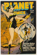 Golden Age (1938-1955):Science Fiction, Planet Comics #39 (Fiction House, 1945) Condition: VG....