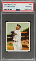 Baseball Cards:Singles (1950-1959), 1950 Bowman Ted Williams #98 PSA NM-MT 8....