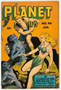 Golden Age (1938-1955):Science Fiction, Planet Comics #40 (Fiction House, 1946) Condition: VG+....