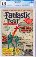 Silver Age (1956-1969):Superhero, Fantastic Four #13 (Marvel, 1963) CGC VF 8.0 Cream to off-white pages....
