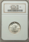 1917 25C Type Two MS65 Full Head NGC. NGC Census: (135/56). PCGS Population: (231/127). CDN: $800 Whsle. Bid for NGC/PCG...