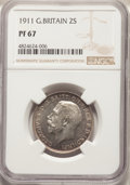 Great Britain: George V Proof Florin 1911 PR67 NGC