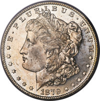 1879-S $1 MS64 Prooflike PCGS. PCGS Population: (1990/1523). NGC Census: (2022/1338). MS64. Mintage 9,110,000. ...(PCGS#...
