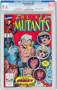 The New Mutants #87 (Marvel, 1990) CGC NM+ 9.6 White pages