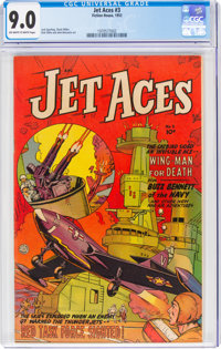Jet Aces #3 (Fiction House, 1952) CGC VF/NM 9.0 Off-white to white pages