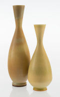 Ceramics & Porcelain, Berndt Friberg (Swedish, 1899-1981). Two Vases, circa 1965, Gustavsberg. Glazed stoneware. 11-3/8 inches (28.9 cm) (tall... (Total: 2 Items)