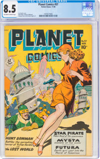 Planet Comics #57 (Fiction House, 1948) CGC VF+ 8.5 Off-white to white pages