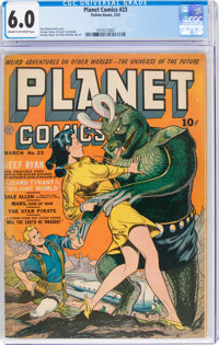 Planet Comics #23 (Fiction House, 1943) CGC FN 6.0 Cream to off-white pages