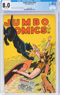 Golden Age (1938-1955):Adventure, Jumbo Comics #104 (Fiction House, 1947) CGC VF 8.0 Off-white pages....