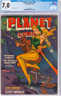 Planet Comics #66 (Fiction House, 1952) CGC FN/VF 7.0 Off-white pages