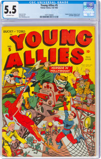 Young Allies Comics #5 (Timely, 1942) CGC FN- 5.5 Off-white pages