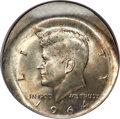Errors, 1964 50C Kennedy Half Dollar -- Huge Broadstrike, Full Reverse Brockage -- MS65 PCGS....