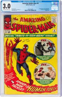 The Amazing Spider-Man #8 (Marvel, 1964) CGC GD/VG 3.0 Off-white to white pages