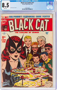 Black Cat Comics #11 (Harvey, 1948) CGC VF+ 8.5 White pages