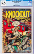 Golden Age (1938-1955):Adventure, Knockout Adventures #1 (Fiction House, 1953) CGC FN- 5.5 Off-white to white pages....