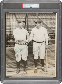 The Finest Known Babe Ruth & Lou Gehrig Signed Photograph, PSA/DNA Auto 9