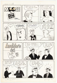 Archie Artist Laugh Comics #111 2 Complete Half-Page Stories in One Composition Original Art (Archie Comics, 1960)