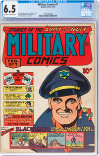 Military Comics #7 (Quality, 1942) CGC FN+ 6.5 Off-white to white pages