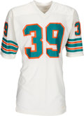 Football Collectibles:Uniforms, Late 1970's Larry Csonka Game Worn, Signed Miami Dolphins Jersey. ...