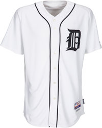 2009 Justin Verlander Game Worn Jackie Robinson Day Detroit Tigers Jersey, MLB Authentic
