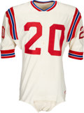 Football Collectibles:Uniforms, 1968 Larry Garron and 1969 Gino Cappelletti Game Worn Boston Patriots Jersey....