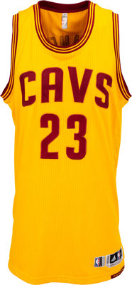 2014-16 LeBron James Game Worn Cleveland Cavaliers Alternate Jersey, MEARS A10 - With Tyronn Lue Letter!