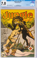 Golden Age (1938-1955):Adventure, Jungle Comics #51 (Fiction House, 1944) CGC FN/VF 7.0 Cream to off-white pages....