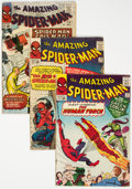 Silver Age (1956-1969):Superhero, The Amazing Spider-Man #17, 18, and 24 Group (Marvel, 1964-65) Condition: Average GD/VG.... (Total: 3 Comic Books)