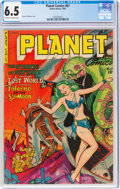 Golden Age (1938-1955):Science Fiction, Planet Comics #67 (Fiction House, 1952) CGC FN+ 6.5 Off-white to white pages....