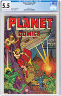 Golden Age (1938-1955):Science Fiction, Planet Comics #68 (Fiction House, 1952) CGC FN- 5.5 Off-white to white pages....