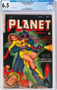 Planet Comics #70 (Fiction House, 1953) CGC FN+ 6.5 Off-white to white pages