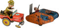 Antiques:Toys, Two Tin Windup Military Toys.... (Total: 2 Items)
