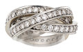 Estate Jewelry:Rings, Diamond, White Gold Eternity Ring . ...