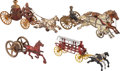 Antiques:Toys, Group lot of Four Horse Drawn Cast Iron Toys.... (Total: 4 Items)