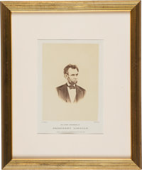 "Abraham Lincoln: ""Latest Photograph Of President Lincoln"""