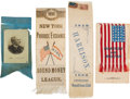 Political:Ribbons & Badges, Benjamin Harrison and William McKinley: Four Ribbons....