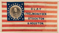Political:Textile Display (pre-1896), Henry Clay: Monumental 1844 Portrait Coattail Campaign Flag....