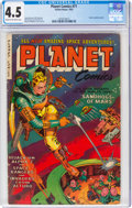 Golden Age (1938-1955):Science Fiction, Planet Comics #71 (Fiction House, 1953) CGC VG+ 4.5 Cream to off-white pages....