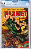 Golden Age (1938-1955):Science Fiction, Planet Comics #72 (Fiction House, 1953) CGC FN- 5.5 Off-white to white pages....