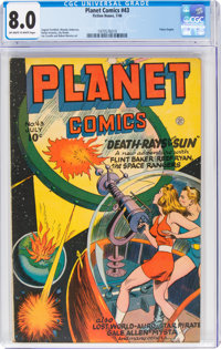 Planet Comics #43 (Fiction House, 1946) CGC VF 8.0 Off-white to white pages
