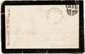 Autographs:U.S. Presidents, Mary Todd Lincoln: Free Frank on Mourning Cover....