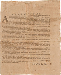 John Hancock: Massachusetts Gubernatorial Broadside