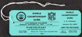 Football Collectibles:Others, 1967 Super Bowl I Unused Participant's Pass. From ...