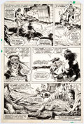 Original Comic Art:Panel Pages, Ernie Chan and Ricardo Villamonte (attributed) Kull the Destroyer #21 Story Page 11 Original Art (Marvel Comics, 1...