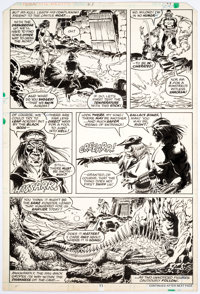 Ernie Chan and Rick Hoberg Kull the Destroyer #21 Story Page 11 Original Art (Marvel Comics, 1977)