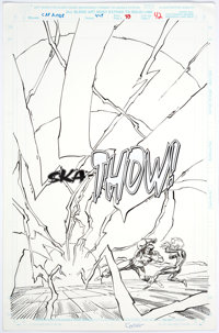 Ron Garney and Denis Rodier Captain America #448 Story Page 33 Original Art (Marvel Comics