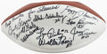 Football Collectibles:Balls, 1998 Green Bay Packers Greats Multi-Signed Football (11 Signatures)....