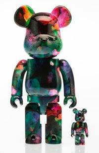 BE@RBRICK X Pushead Rainbow Marble 400% and 100% (two works), 2016 Painted cast resin 10-3/4 x 5 x 3-1/2 inches (